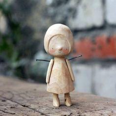 берёзовая девица будущая Мухоморка #woodentoy #woodendoll #handmade #process by asya_kotyasya