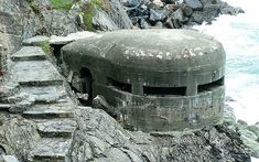 World War 2 Pill Boxes | World War II German pill box bunker well hidden