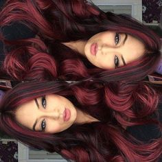 Save money and get great hair color at home with these reader-approved finds redhaircolor 677369600187867053 Ombre Hair Color, Cool Hair Color, Hair Color Streaks, Brunette Color, Brunette Hair, Pelo Color Vino, Hair Highlights, Color Highlights, Black Hair With Red Highlights