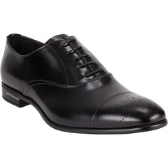 Prada Medallion-Toe Balmorals at Barneys.com