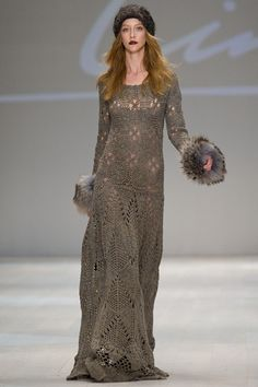 Crochetemoda: Crochet - Vestido Longo