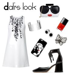 Black,red,white⚫️🔴⚪️ by dali-bazgieva on Polyvore featuring polyvore, мода, style, Marc Jacobs, Alice + Olivia, Dinh Van, Bulgari, fashion and clothing