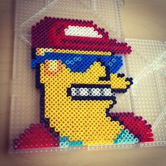 Duffman - The Simpsons hama beads by smargetts