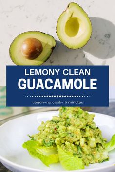 The Healthiest Vegan Guacamole!  Always the life of the party I just can't get enough guacamole variations! This one is loaded with #mexican #oregano #Lemon #cliantro and #avocados.  Just 6 ingredients 1 bowl and in five minutes you'll have this AMAZING clean guacamole.  No Mayo or Sour cream here! #vegan #mealprep #partyfood #guacamole #mealprep #plantbased #avocadorecipe #clean #healthy Guacamole Recipe, Avocado Recipes, Raw Food Recipes, Cooking Recipes, Healthy Recipes, Yummy Recipes, Vegetarian Recipes, Snack Recipes, How To Make Guacamole