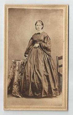 Civil War Era CDV - Young Woman, Hoop Style Dress, Bell Sleeves on eBay!