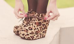 cheeta print wedges