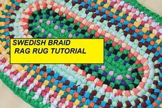 DIY Rag Rug Pattern. This is a tutorial of a Swedish Braid Rag Rug. It has over 28 step by step photos and easy to read instructions to lead you through making your very own no sew braided rag rug. This is a no sew braided rug and is a great DIY Rag Rug project! You dont need any special