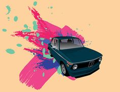 BMW 2002 in an explosion of COLOR.