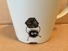 FREE SHIPPING  Soot Sprite Coal Line Mug by McCannsMarkItPlace