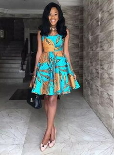 Beautiful Short Ankara Gown Styles ankara short gown styles of 2019 can never get better Unique Ankara Styles, Ankara Short Gown Styles, Short Dresses, African Attire, African Dress, African Fabric, African Outfits, African Wear, African Fashion Ankara
