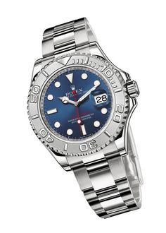 """La montre """"Oyster Perpetual Yacht-Master"""" de Rolex http://www.vogue.fr/joaillerie/le-bijou-du-jour/articles/la-montre-oyster-perpetual-yacht-master-de-rolex/15516"""