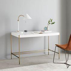 Zane Mini Desk - White | west elm