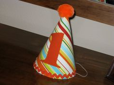 Custom Birthday Hat First Birthday Party 1st Birthday Outfit Toddler Baby Boy or Girl