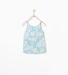 Shiny flowers T-shirt from Zara Girls