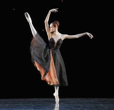 """The Mariinsky Ballet's Uliana Lopatkina in """"The Night"""" at the Royal Opera House. Repinning for the costume! I love it!"""