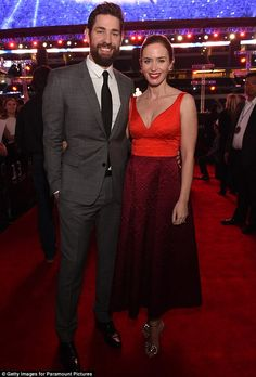 His leading lady: Emily Blunt joined husband John Krasinski at the premiere of his film 13...