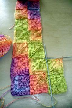 Le tricot modulaire!