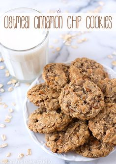 Oatmeal Cinnamon Chip Cookies – deliciously soft and chewy oatmeal cookies kicked up a notch with the scrumptious addition of cinnamon baking chips; your favorite oatmeal cookie just got cinnamon-y better!