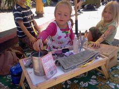 Sasha, the daughter of Fairfax face-painter Tatyana Fateyeva, has her own small business goingCredit: Paul Konikowski