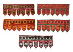 20 pc Indian Cotton Door Hanging Embroidered Toran Window Valance Wholesale Lot #Silkgram