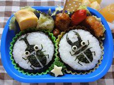 キャラ弁☆魚&昆虫 : 子連れハワイ旅行Blog**