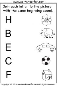 Beginning Sound – 12 Worksheets / FREE Printable Worksheets Beginning Sounds Worksheets, English Worksheets For Kindergarten, Printable Preschool Worksheets, Alphabet Worksheets, Preschool Phonics, Preschool Writing, Preschool Learning Activities, Numbers Preschool, Learning English For Kids