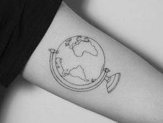 tatouage de globe terrestre terre monde
