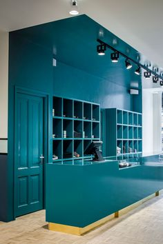 The Pelican Studio in Amsterdam by Framework | Yellowtrace | teal anyone? love the solid colour