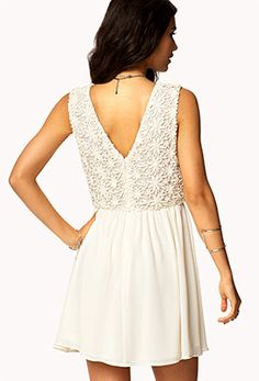Crocheted Fit & Flare Dress   FOREVER 21 - 2055670238
