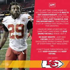 This quote, Eric Berry Eric Berry, Athlete Quotes, Kansas City Chiefs Football, First Down, Mind Up, Taken For Granted, Champion, Pride