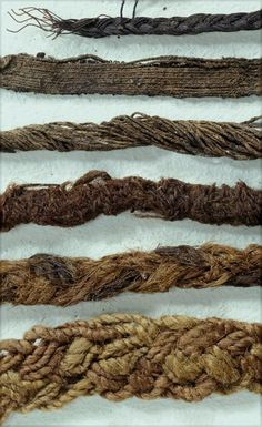 In Lödöse (Sweden) a large number of ancient textiles was found, circa 1250-1350 CE. Some of the textile artifacts are about 87 cm in length. Most finds are striped woolen fabrics, 90 pleated textiles, made from very thin wool fabric; woven silk trim/ribbons, woven wool and even horsehair textiles.