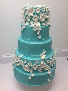 White Cake with Flower Detail...  smaller with pink flowers?  :-)