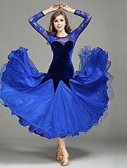 646d3416f Ballroom Dance Dresses Women's Performance Lace / Tulle / Velvet Lace / Splicing  Long Sleeve Natural 1 x User's Manual / Dress. HófehérkeHamupipőkeOutfit