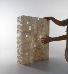 Thom Faulders + Emerging Objects: GEOtube Tower model, printed in salt 3d Printing News, 3d Printing Materials, 3d Printing Industry, 3d Printing Service, 3d Printing Technology, Building Materials, 3d Printed Objects, Digital Fabrication, 3d Prints