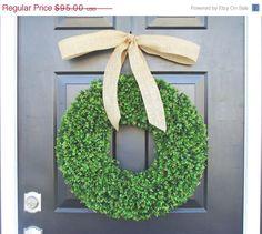 Boxwood Wreath Summer Wreath Wedding Wreath 20 by ElegantWreath, $85.50