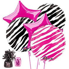 Celebrate with the Zebra Party Balloon Kit for your Balloon Kits party. Find huge selections & prices on all party decorations & supplies at Birthday in a Box. Zebra Print Party, Zebra Print Birthday, Girl Birthday, Birthday Cakes, Fun Party Themes, Birthday Party Decorations, Party Ideas, Birthday Parties, Spa Party Favors