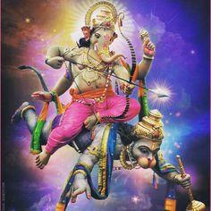 No photo description available. Shri Ganesh Images, Hanuman Images, Radha Krishna Images, Jai Ganesh, Ganesha Art, Lord Ganesha, Shree Ganesh, Saraswati Goddess, Shiva Shakti