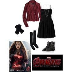 AoU Casual Cosplay: Scarlet Witch by newyork-londonandback on Polyvore
