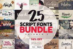 @newkoko2020 25 Fonts Bundle vol.2 [94% OFF] by Pere Esquerrà on @creativemarket#font #buy #discount #design #lettering