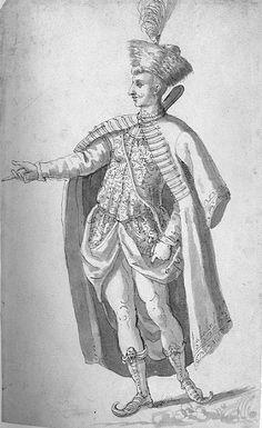 A Polishman  by Inigo Jones (early 17th century)