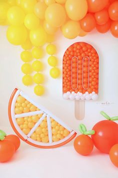 Balloon Decorations, Birthday Party Decorations, Birthday Parties, Balloon Installation, Fruit Party, The Balloon, Balloon Party, Party Planning, Just In Case