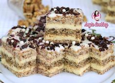 Romanian Desserts, Delicious Deserts, Food Cakes, Chocolate Cupcakes, Homemade Cakes, Creative Food, Coco, Cake Recipes, Sweet Treats