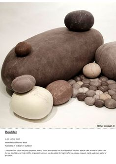 Ronel jordaan sea life on pinterest cushions felt and for Felted wool boulders