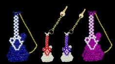 How To Make Crystal Beads Keychain - Part 1 | Simple And Easy At Home DI...
