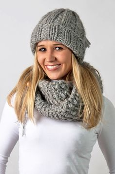 Chunky knit/Loop & Cap by amjas.net
