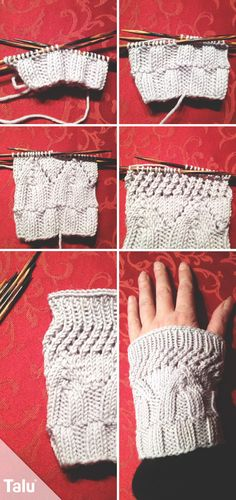 Knitting wrist warmers – instructions for beginners – socken stricken Arm Knitting, Knitting Patterns, Crochet Patterns, Diy Bracelets With Names, Crochet Pullover Pattern, How To Start Knitting, Headband Pattern, Wrist Warmers, Knitting For Beginners