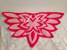 Alas de búho Color rojo Magenta o Owlette de máscaras por Sonorali