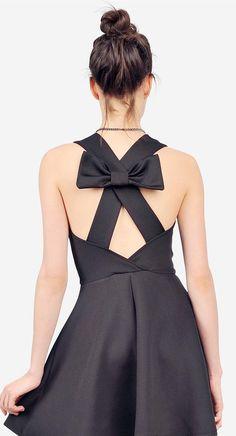 Criss Cross Bow Dress.