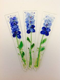 Картинки по запросу fusing glass blue flower
