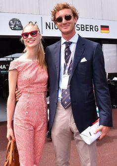 Pierre Casiraghi and fiance' Beatrice Borromeo at the 2015 Monaco Grand Prix